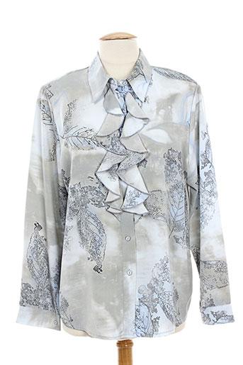 laura de l'isle chemises femme de couleur gris