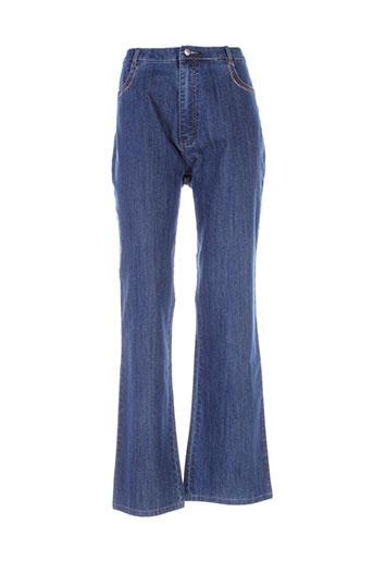 eskade jeans femme de couleur bleu