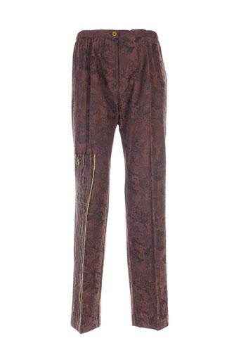 guitard pantalons femme de couleur marron
