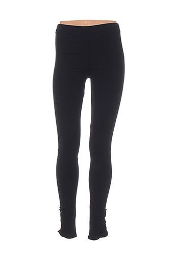 ambre pantalons femme de couleur noir