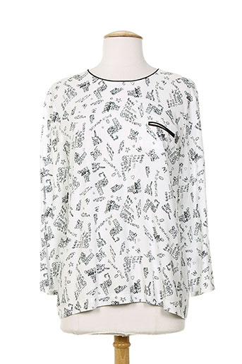diplodocus chemises femme de couleur blanc
