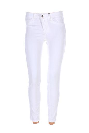 vila pantalons et decontractes femme de couleur blanc