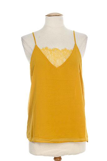 peace and love chemises femme de couleur jaune