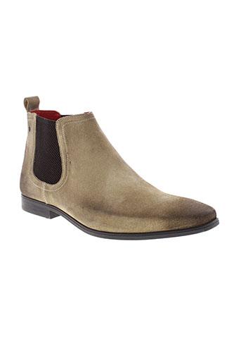 base london chaussures homme de couleur beige
