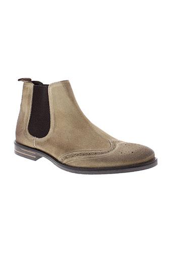 base et london boots homme de couleur beige