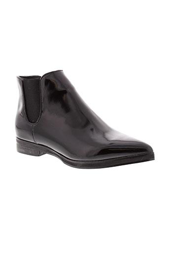 francesco et milano boots femme de couleur noir