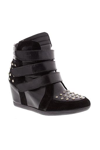 pastelle chaussures femme de couleur noir