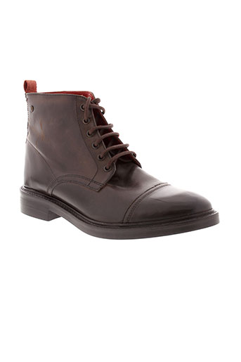base et london boots homme de couleur marron