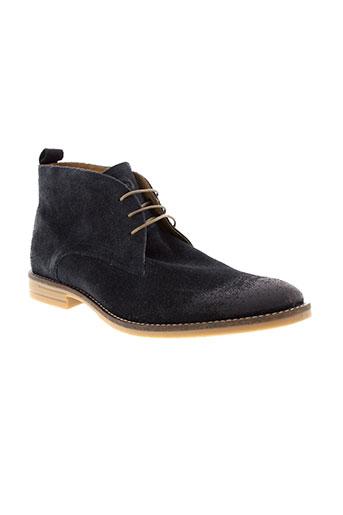 base et london boots homme de couleur bleu