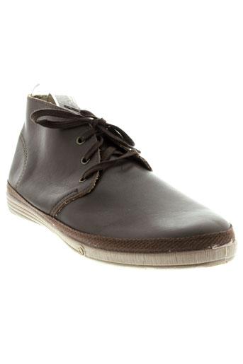 natural et world boots homme de couleur marron