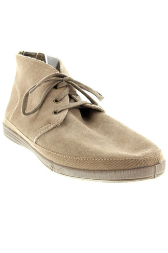 natural et world boots homme de couleur beige