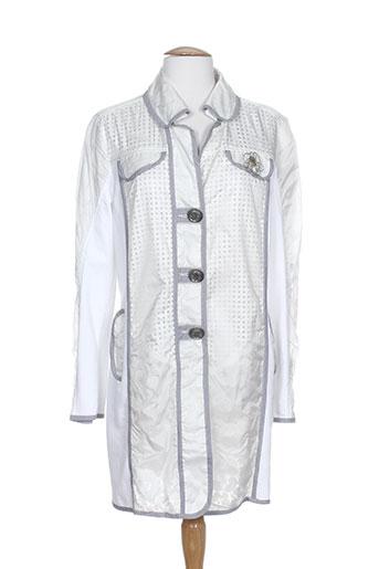 daniela dallavalle manteaux femme de couleur blanc
