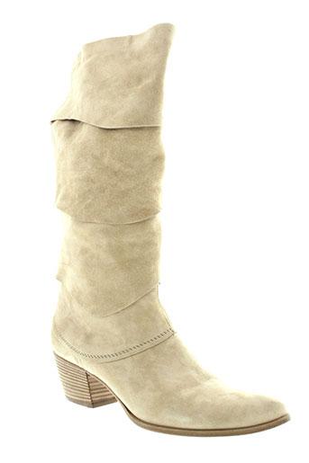 vic bottes femme de couleur beige