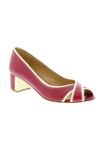 atelier voisin chaussures femme de couleur rouge
