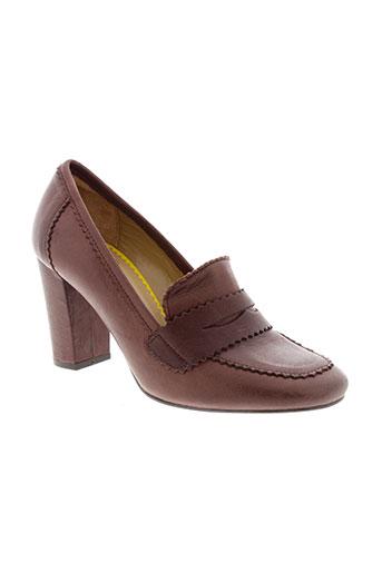 ines de la fressange chaussures femme de couleur marron