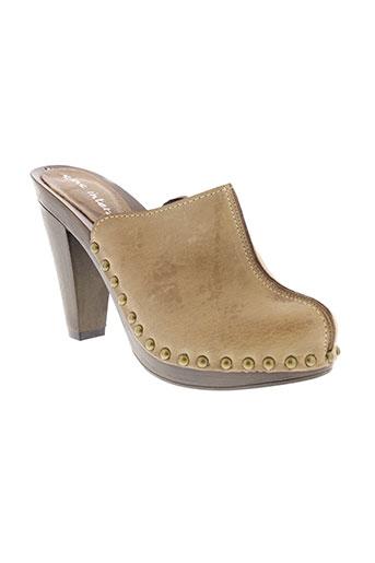 sans interdit chaussures femme de couleur beige