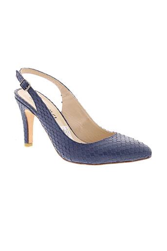 anaki escarpins femme de couleur bleu