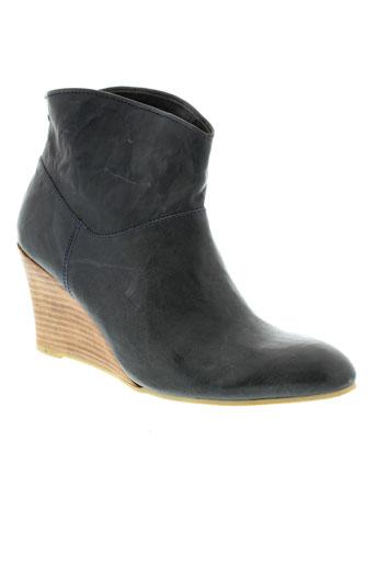 minka et design boots femme de couleur bleu