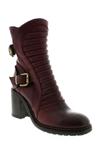 fru et it boots femme de couleur rouge