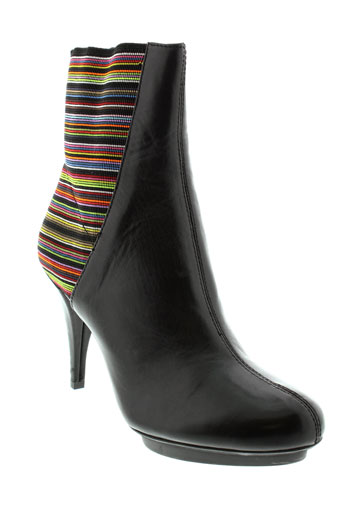 united et nude boots femme de couleur noir
