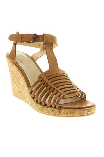 schmoove sandales et nu et pieds femme de couleur marron