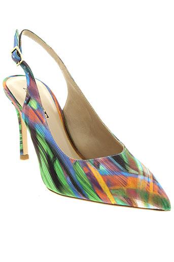 adige chaussures femme de couleur vert