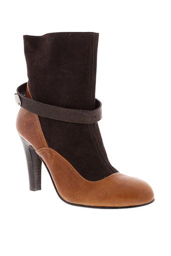 flavio et menorca bottines femme de couleur marron