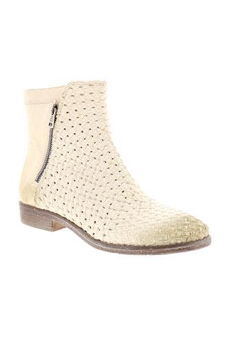 fruit boots femme de couleur blanc