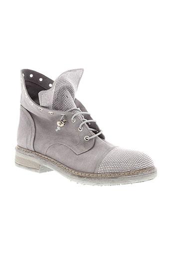 fruit boots femme de couleur gris