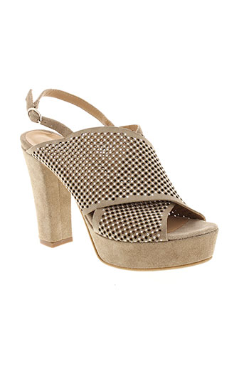 fruit chaussures femme de couleur beige