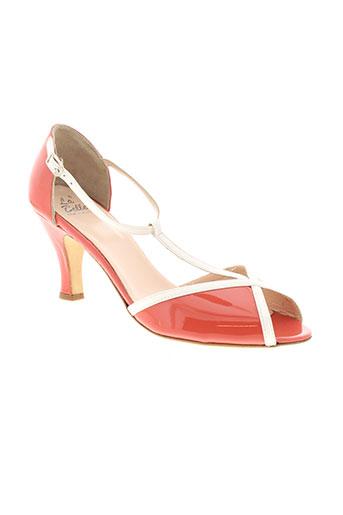 la et belle et shoes sandales et nu et pieds femme de couleur orange