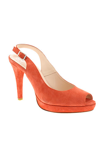 la belle shoes chaussures femme de couleur orange