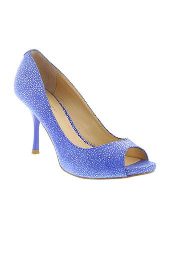 guess escarpins femme de couleur bleu