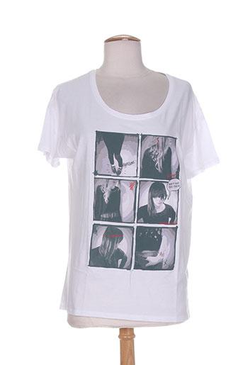 teddy smith t-shirts fille de couleur blanc
