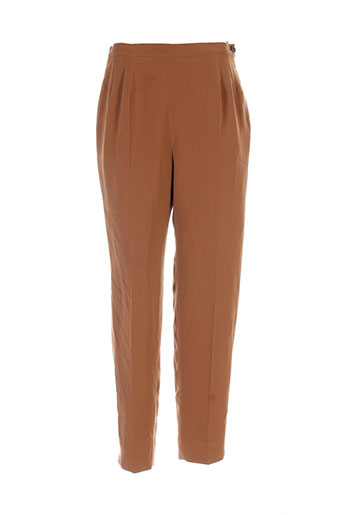 lenvol pantalons femme de couleur marron