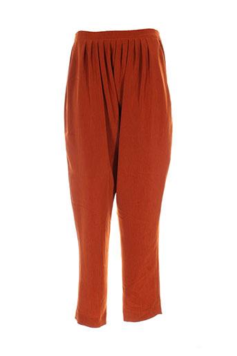 lenvol pantalons femme de couleur orange
