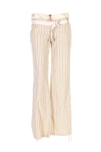 roberta scarpa pantalons femme de couleur beige