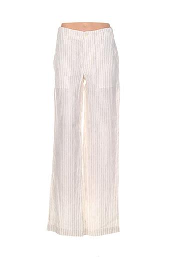 gianni ferrucci pantalons homme de couleur beige
