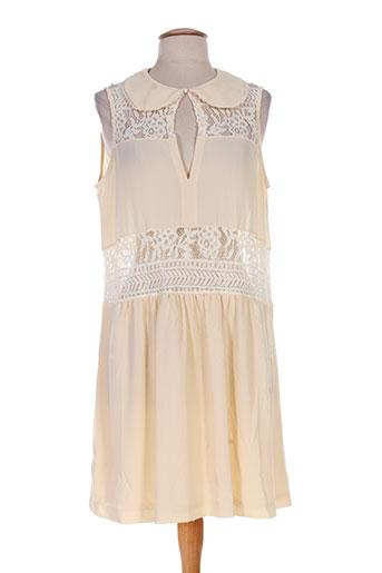 jane wood robes femme de couleur beige
