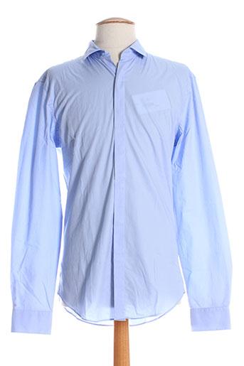 chrom men chemises homme de couleur bleu
