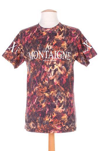 seven tees t-shirts homme de couleur marron