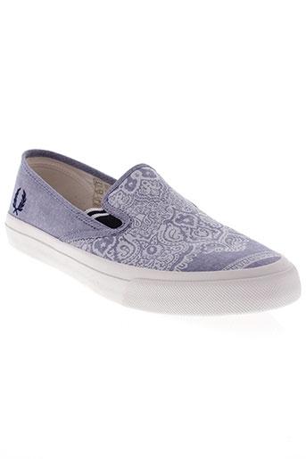 fred perry chaussures homme de couleur bleu