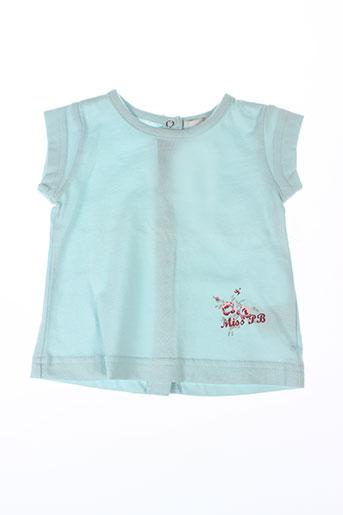 T-shirt manches courtes bleu PETIT BOY pour fille