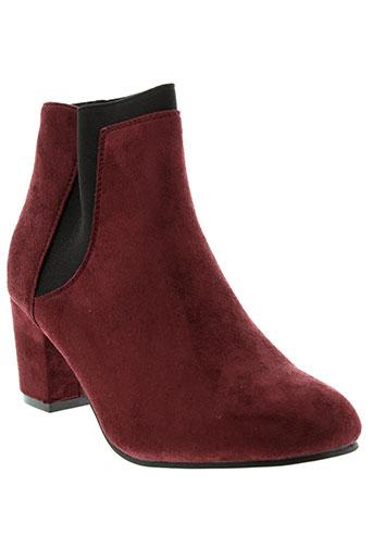 lily et shoes boots femme de couleur rouge
