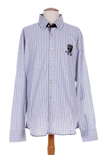 black wellis chemises homme de couleur bleu