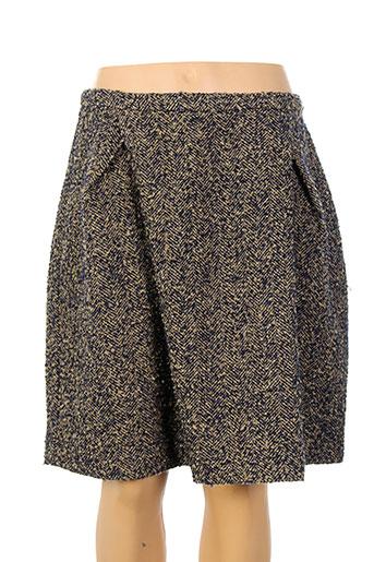 and less jupes femme de couleur marron
