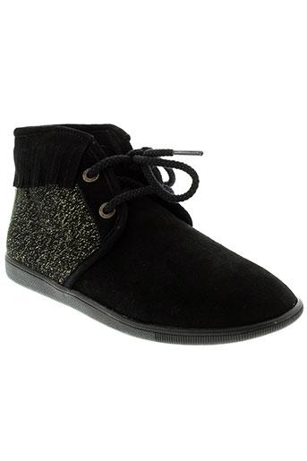 armistice boots femme de couleur noir
