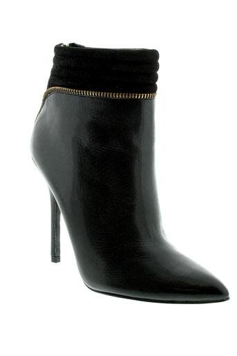 guess bottines femme de couleur noir