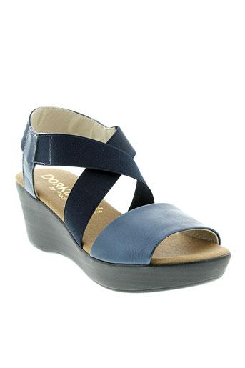 dorking sandales et nu et pieds femme de couleur bleu