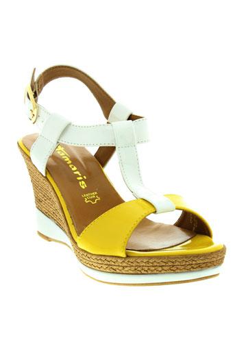 tamaris chaussures femme de couleur jaune
